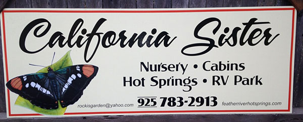 California Sister nursery sign