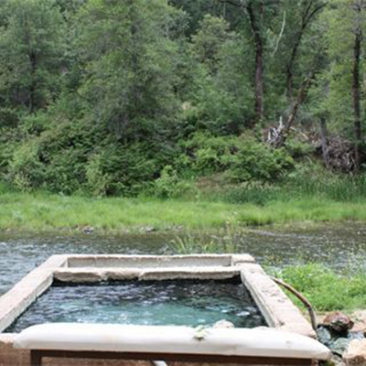 Surrounded by the beauty of the Feather River, as you soak in the healing waters of the hot springs.