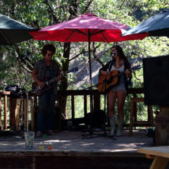 Jake and Angelica (aka Thelma and Lewis). An angelic voice and skillful guitar-playing originals from Grass Valley at the Labor Day barbecue