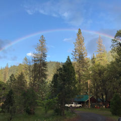 Somewhere under the rainbow at Feather River Hot Springs