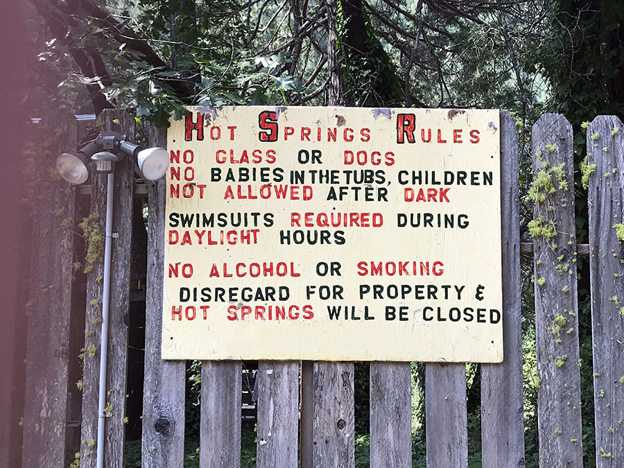 Feather River Hot Springs rules